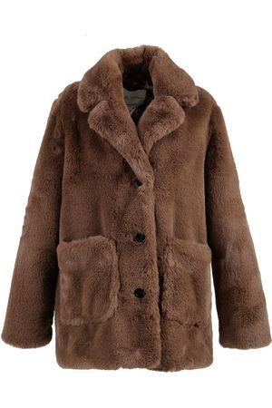 Oakwood Ivy Mid-Length Coat in Faux Fur