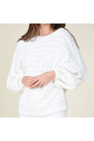 Molly Bracken Women Sweatshirts - Fluffy Openwork Knit Jumper