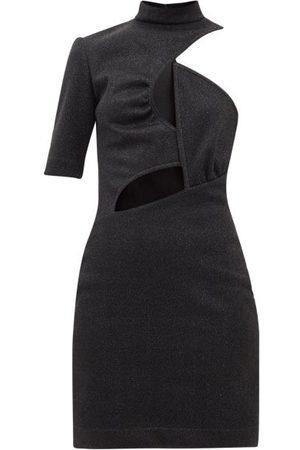 Stella McCartney Malisa Cutout Glitter-jersey Mini Dress - Womens