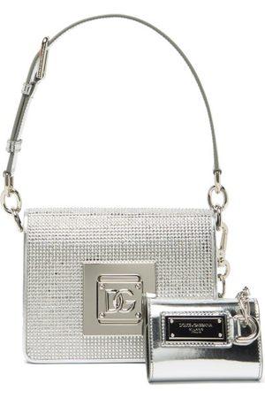Dolce & Gabbana Women Handbags - Cubo Crystal-embellished Leather Shoulder Bag - Womens
