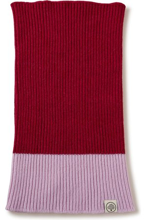 MULBERRY Scarves - Colour Block Knitted Snood