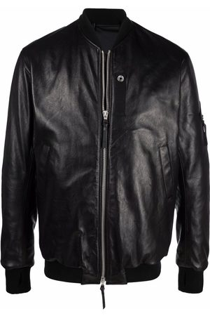 11 BY BORIS BIDJAN SABERI Leather bomber jacket
