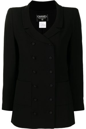 CHANEL 1998 narrow lapels double-breasted blazer