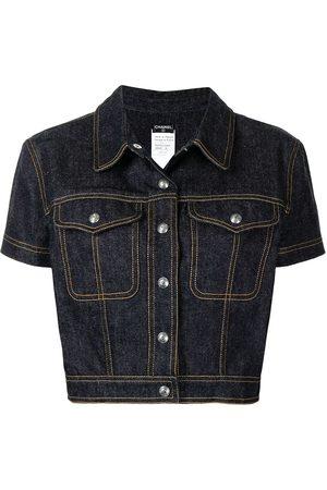 CHANEL 1997 short-sleeved cropped denim jacket
