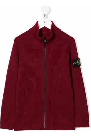 Stone Island Zip-up wool jumper