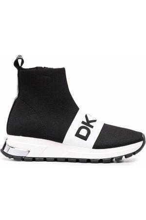 DKNY Logo lettering sock sneakers