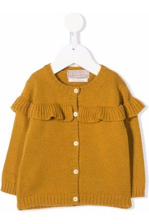LA STUPENDERIA Ruffle button-down cashmere cardigan