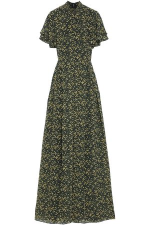 MIKAEL AGHAL Woman Shirred Floral-print Crepe De Chine Maxi Dress Size 10