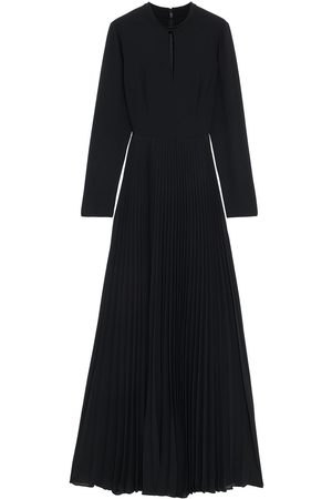 MIKAEL AGHAL Woman Cutout Pleated Crepe De Chine Maxi Dress Size 10