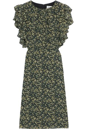 MIKAEL AGHAL Woman Ruffled Floral-print Crepe Dress Size 10
