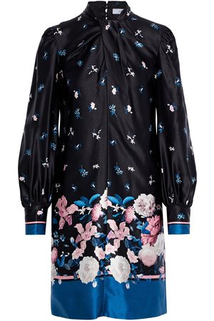 Erdem Woman Michela Twist-front Floral-print Silk-satin Mini Dress Size 8