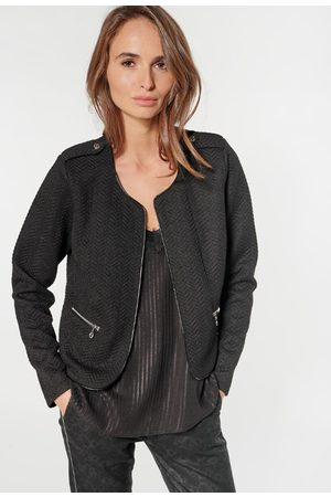 Le Temps des Cerises Jackets - Cropped Jacket with Hook Fastening