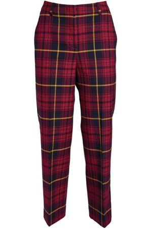 Max&Co. Cropped Check Trousers