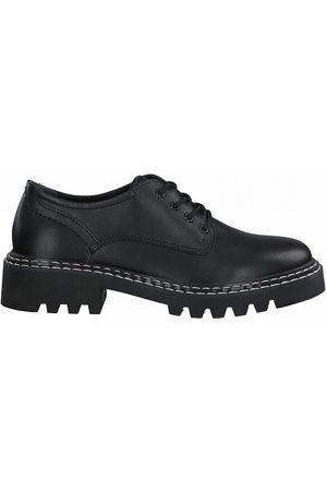 Tamaris Leather Chunky Heel Brogues