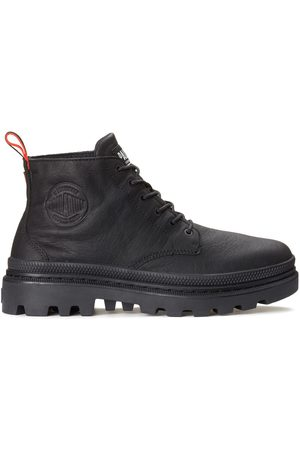 Palladium Women Ankle Boots - Pallatrooper Hi WP+ Waterproof Leather Boots