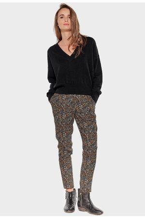 LE TEMPS DES CERISES Floral Slim Fit Trousers