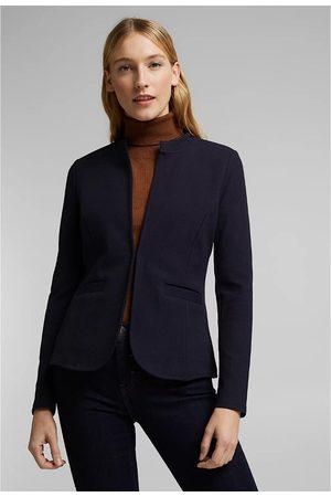 Esprit Cotton Mix Blazer with High Neck