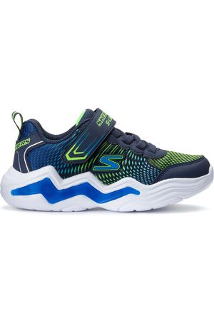 Skechers Girls Trainers - Kids Gore & Strap W/ Lighted Tech Piece Trainers