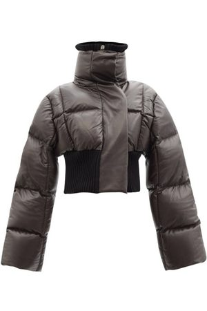 Givenchy Women Leather Jackets - High-neck Quilted Leather Down Jacket - Womens