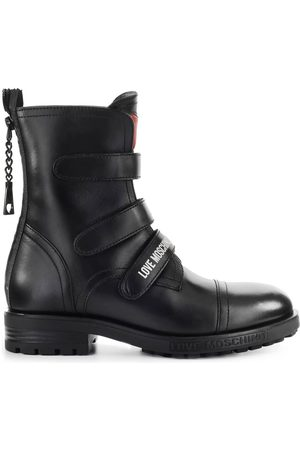 Love Moschino COMBAT BOOT WITH STRAPS