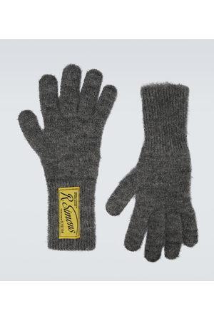 RAF SIMONS Men Gloves - Wool logo gloves