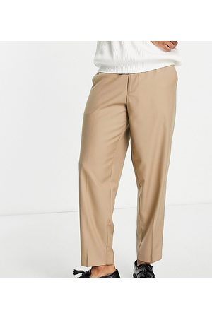 New Look Oversized fit smart trousers in tan