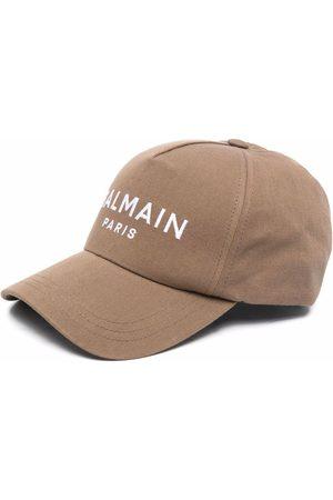 Balmain Embroidered-logo panelled cap