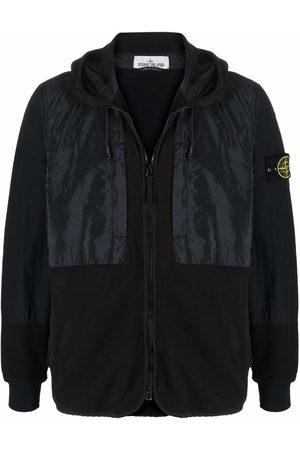 Stone Island Compass badge panelled zip-up hoodie