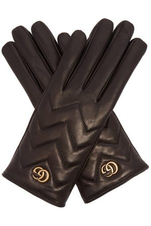 Gucci GG Marmont Chevron-quilted Leather Gloves - Womens