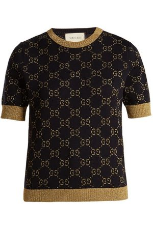 Gucci GG Jacquard-knit Cotton-blend Sweatshirt - Womens