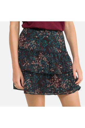 IKKS Tiered Ruffled Mini Skirt in Floral Print