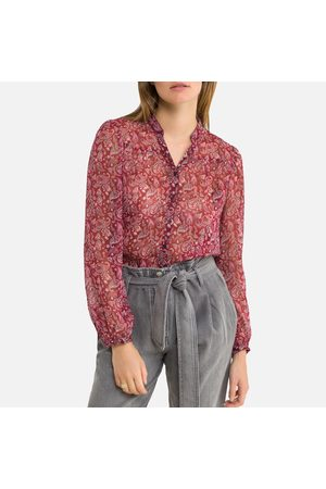 IKKS Floral Print Blouse with Long Sleeves