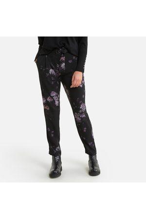 "IKKS Floral High Waist Trousers, Length 27.5"""