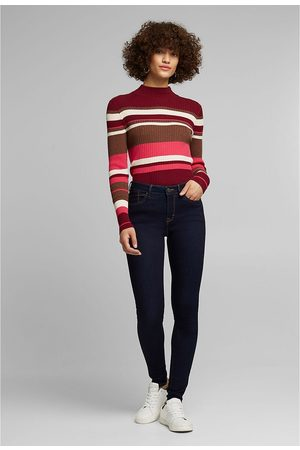 """Esprit Mid-Rise Skinny Jeans in Organic Cotton, Length 32"""""""