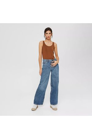 Esprit Women Bootcut - Organic Cotton Jeans in Mid Rise with Wide Leg