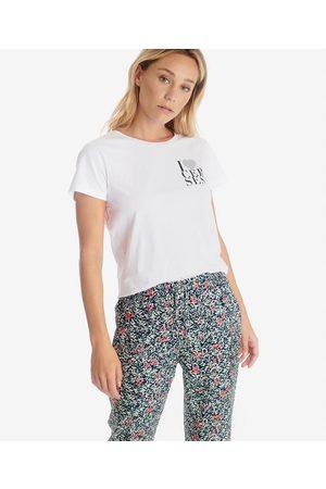 Le Temps des Cerises Printed Cotton T-Shirt with Short Sleeves