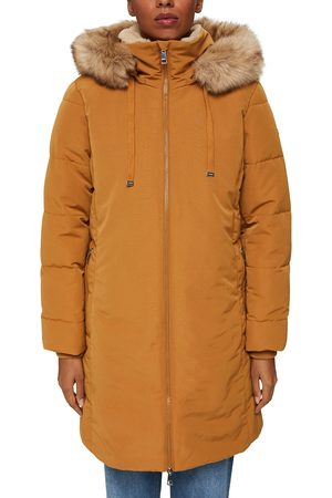 Esprit Hooded Parka with Faux Fur Hood