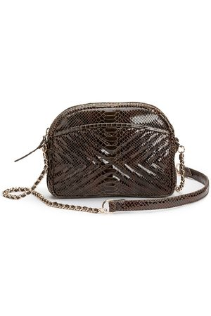 Petite Mendigote Simone Crossbody Bag in Snake Print Leather