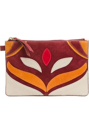 Petite Mendigote Suede Patchwork Pouch with Zip Fastening