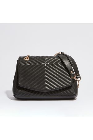 Petite Mendigote Yvonne Cow Flap Bag in Quilted Leather