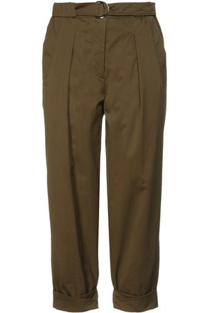 3.1 Phillip Lim Woman Cotton-blend Tapered Pants Army Size 6