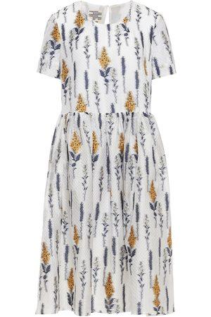 Baum und Pferdgarten Woman Ariola Gathered Organza-jacquard Midi Dress Size 32