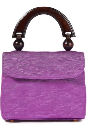 By Far Woman Fiona Faille Tote Violet Size