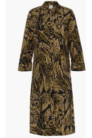 Baum und Pferdgarten Woman Arlene Leopard-print Cotton-poplin Midi Shirt Dress Sage Size 34