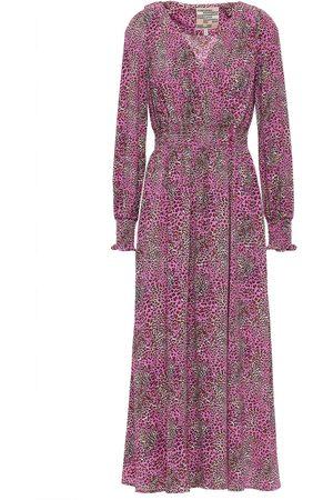 Baum und Pferdgarten Woman Azia Wrap-effect Leopard-print Crepe Midi Dress Size 34
