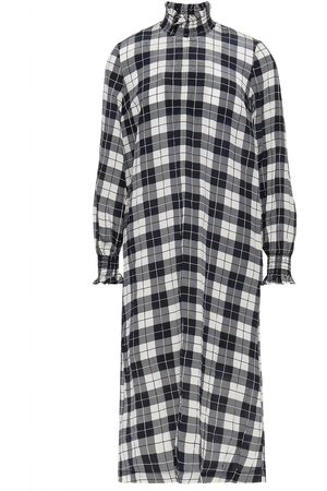 Baum und Pferdgarten Woman Anamay Crinkled Checked Satin Midi Dress Size 34