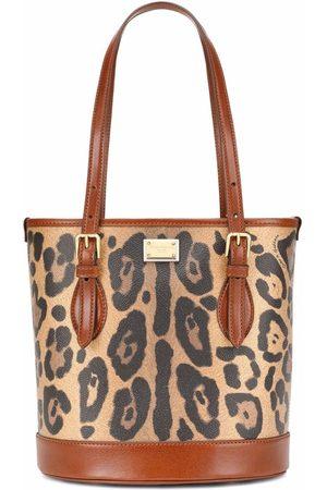 Dolce & Gabbana Leopard-print top-handle tote bag