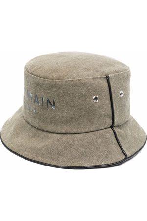 Balmain B-Army logo-print piped-trim bucket hat