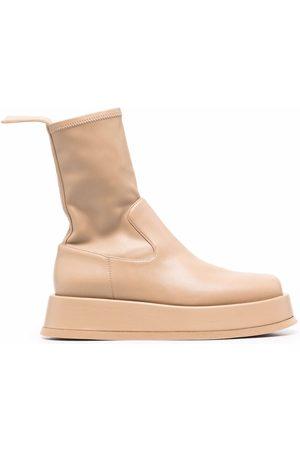 GIABORGHINI Women Boots - Rosie flatform boots - Neutrals