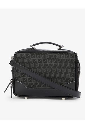 Fendi Brand-print zipped cotton-blend messenger bag
